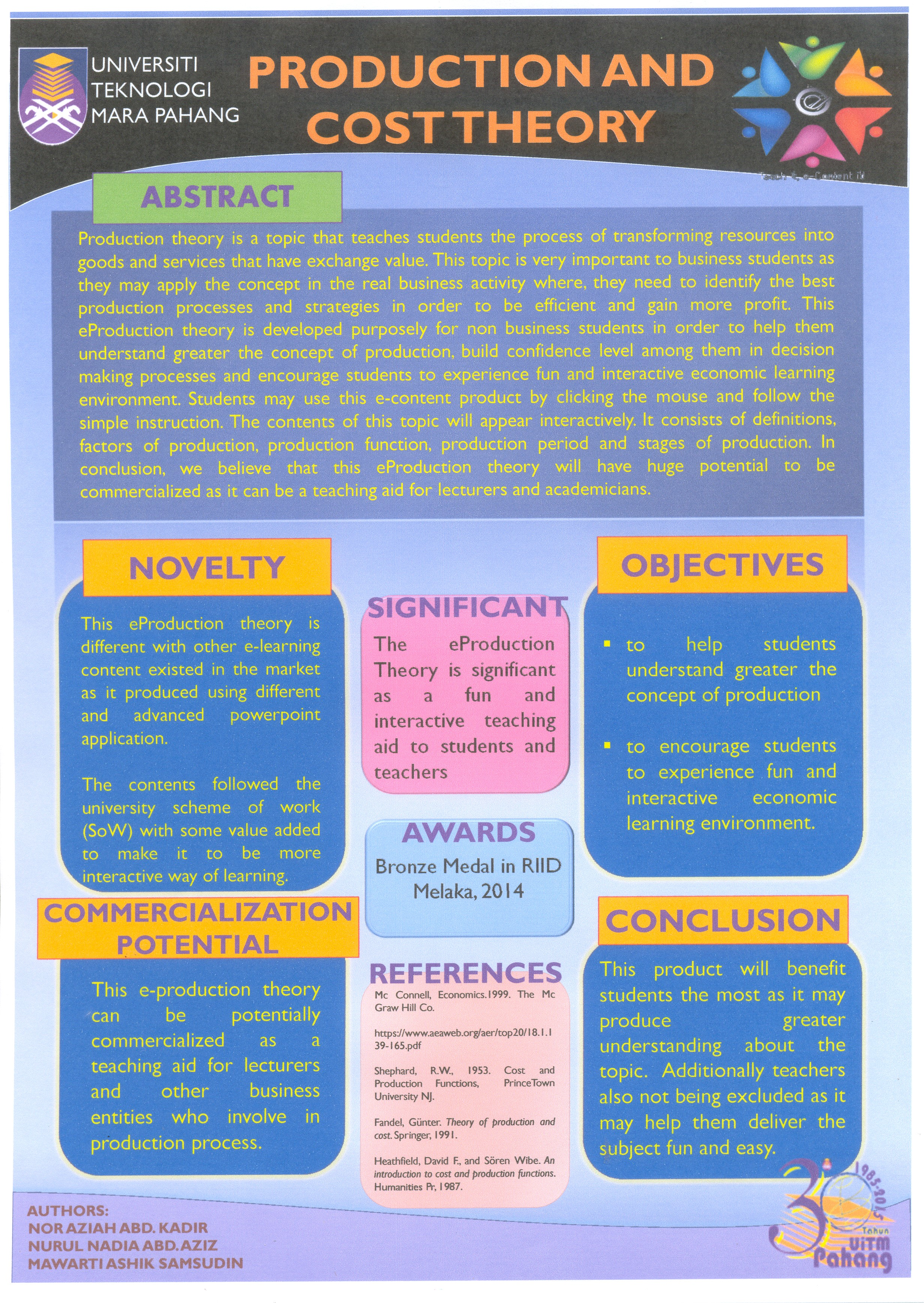 POSTER_E-PRODUCTION THEORY